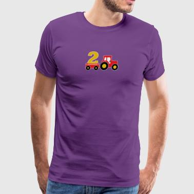 2 years old and truck - Men's Premium T-Shirt