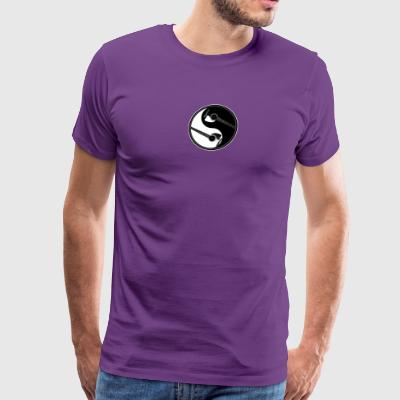 Yin Yang Guitars Peace Sign - Men's Premium T-Shirt