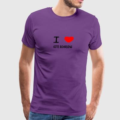I LOVE KITE BOARDING - Men's Premium T-Shirt