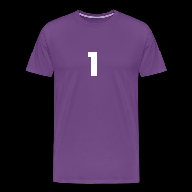 1, One, Number One, Number 1 - Men's Premium T-Shirt