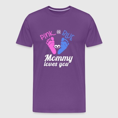 Baby Shower Pink or Blue - Men's Premium T-Shirt