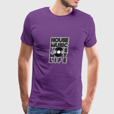 House Music is my life Party Disco Tee Shirt Gift - Men's Premium T-Shirt