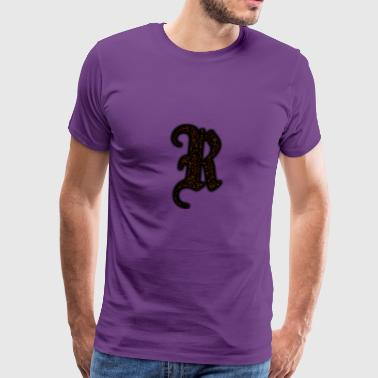 RAXX R LETTER GOLD - Men's Premium T-Shirt