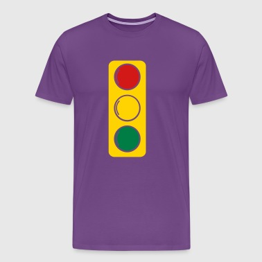 traffic lights red amber and green - Men's Premium T-Shirt