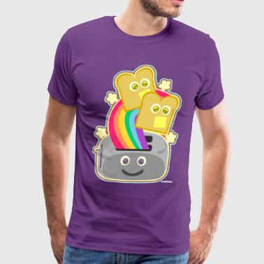 Fun Happy Kawaii Rainbow Toast - Men's Premium T-Shirt