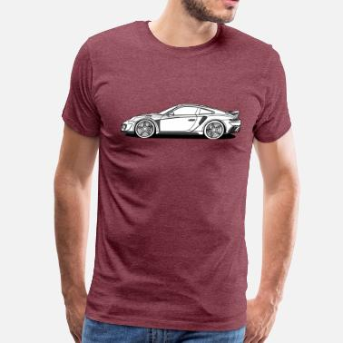 Ferris Wheel Profile Sports Car - Men's Premium T-Shirt