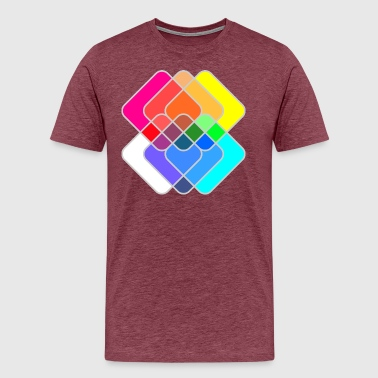 Abstract Color Geometric Squares - Men's Premium T-Shirt