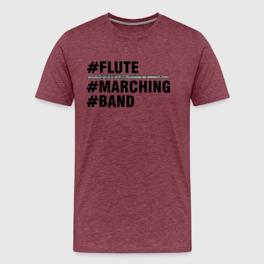 Flute Marching Band - Men's Premium T-Shirt