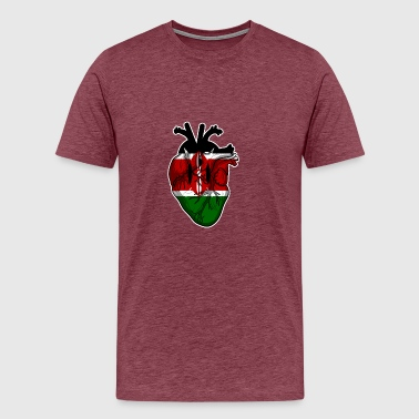 Funny Kenyan Kenya is In My Heart - Men's Premium T-Shirt
