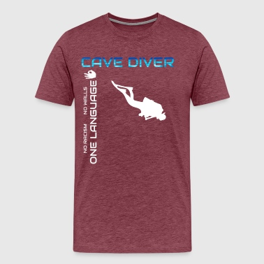 Cave diver Diving - Men's Premium T-Shirt