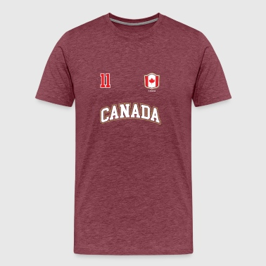 Canada Soccer Canada Shirt Number 11 Canadian Team Sports Hockey Soccer - Men's Premium T-Shirt