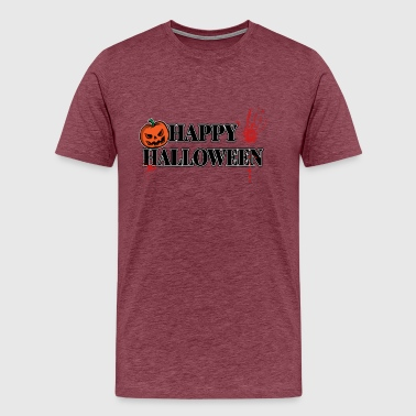 Handprint Bloody Handprint Happy Halloween - Men's Premium T-Shirt