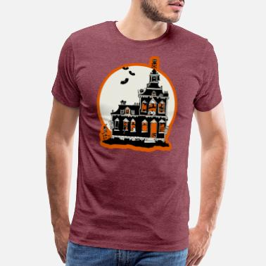 Haunted Vintage haunted house - Men's Premium T-Shirt