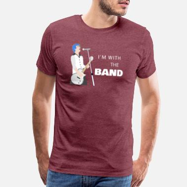 Lead Guitar I'm With the Band - Men's Premium T-Shirt