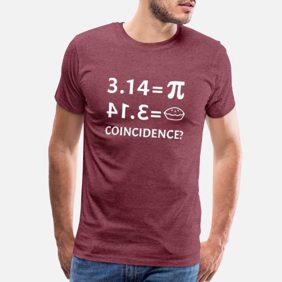 a6a600c8 Pi T-Shirts - Funny Pie Equals Pi Day Math Teacher Student Joke - Men's