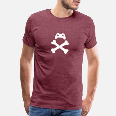Classic Video Games Funny Gaming Controller Skull coop gaming gift - Men's Premium T-Shirt