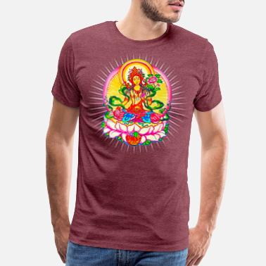 Meditation Tara - Tibet Buddhism, Lotus, Meditation, Yoga, Om - Men's Premium T-Shirt