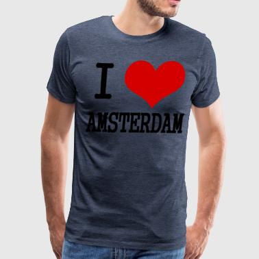 I Love Dutch I love Amersterdam - Men's Premium T-Shirt