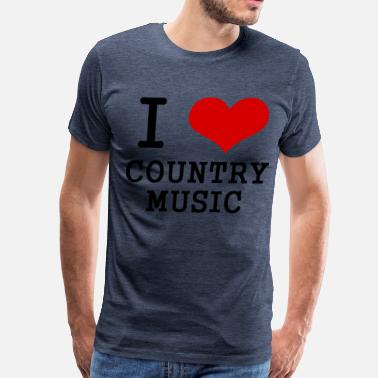 Flags Country Music I love country music - Men's Premium T-Shirt