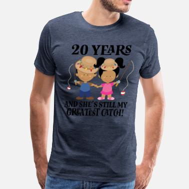 20th Anniversary 20th Anniversary Funny Husband Gift - Men's Premium T-Shirt