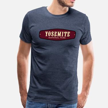 Yosemite National Park - Badge - Men's Premium T-Shirt