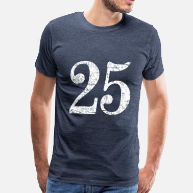 Number 25 Number 25 - 25th Anniversary (Ancient White) - Men's Premium T-Shirt