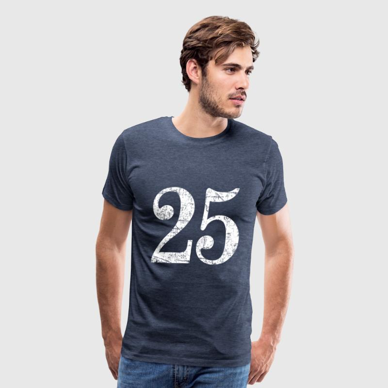 Number 25 - 25th Anniversary (Ancient White) - Men's Premium T-Shirt