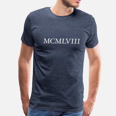 Established 1958 MCMLVIII Vintage 1958 Birthday (White) - Men's Premium T-Shirt