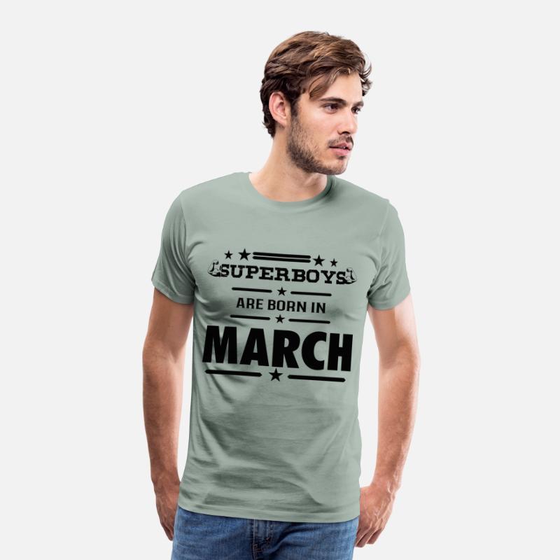 Birthday Shirts Born In March Mens Premium T Shirt
