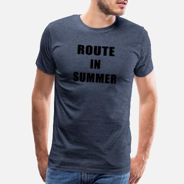 Routes Route In Summer - Men's Premium T-Shirt
