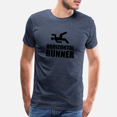 Couch Horizontal Runner Funny - Men's Premium T-Shirt