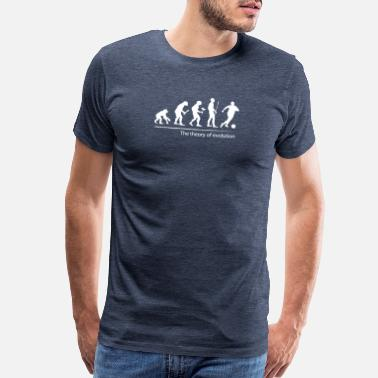 Soccer Evolution The theory of evolution (Football) - Men's Premium T-Shirt