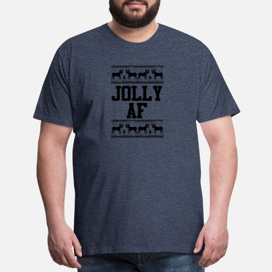 Jolly AF Ugly Christmas Men/'s T-shirt funny Xmas tee
