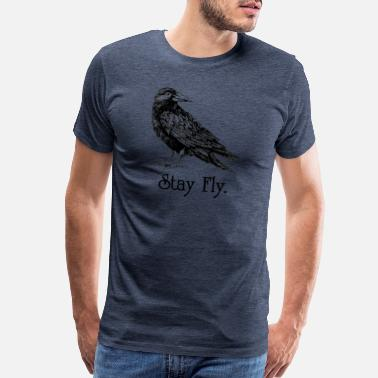 Hint stay fly raven - Men's Premium T-Shirt