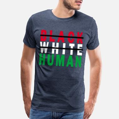 black_white_human_funny_shirt_ - Men's Premium T-Shirt