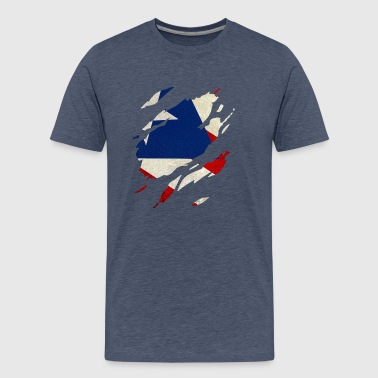 Puerto Rico Flag Visible - Men's Premium T-Shirt