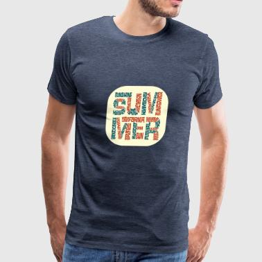Summer Word Cloud - Men's Premium T-Shirt