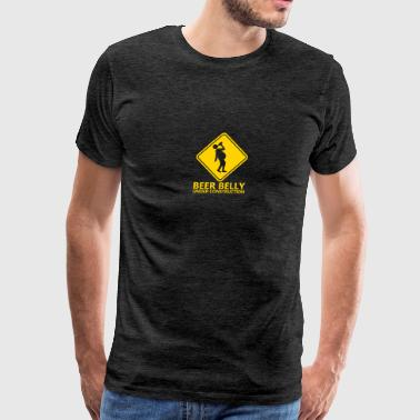 beer belly under construction construction work da - Men's Premium T-Shirt
