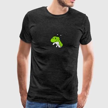 hole ground caterpillar snail crawling snake cute  - Men's Premium T-Shirt