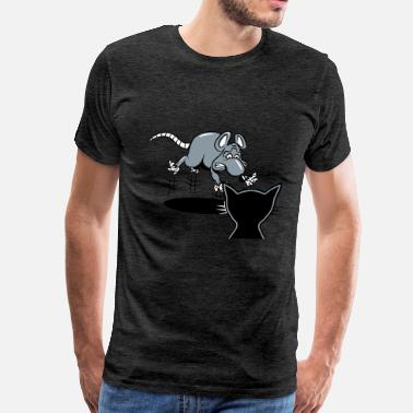 Scared Scare rat scared scare cat - Men's Premium T-Shirt