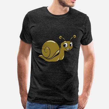 Cute Kids snail funny cute kids - Men's Premium T-Shirt