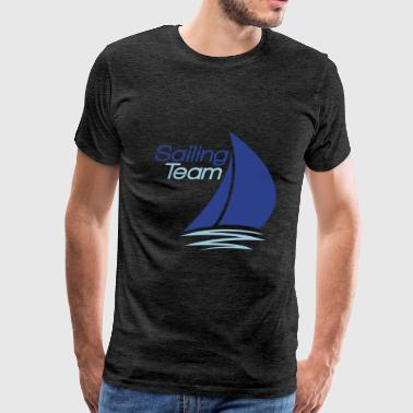 team sailing logo design sailing boat ship club se - Men's Premium T-Shirt