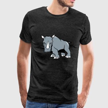Rhino aggressive - Men's Premium T-Shirt