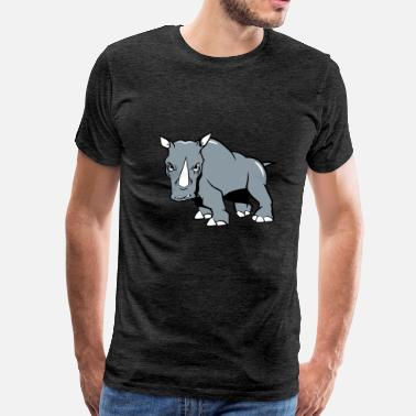Aggression Rhino aggressive - Men's Premium T-Shirt