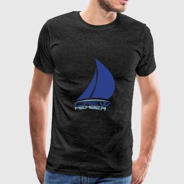 crew member sailing logo design sailing boat ship  - Men's Premium T-Shirt