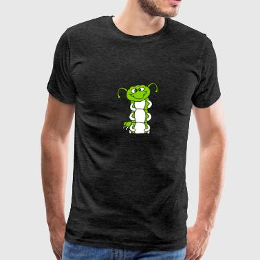 worm upright snail crawling caterpillar snake cute - Men's Premium T-Shirt