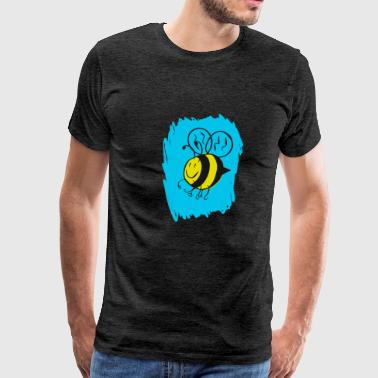 Black And Yellow Bee Project - Drawing 1309277 - Men's Premium T-Shirt