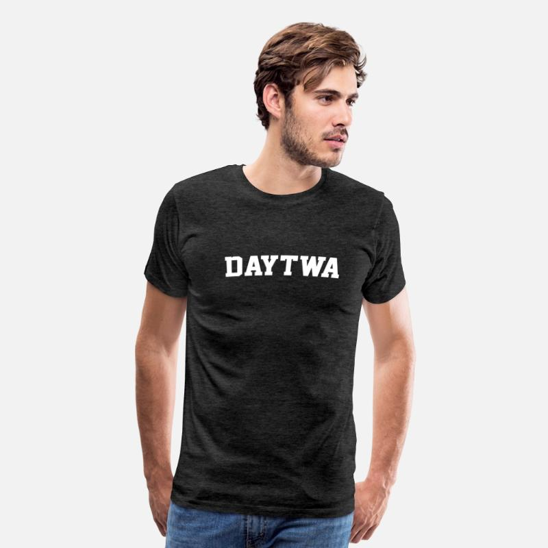 Day T-Shirts - Daytwa Detroit Michigan Day-Twa - Men's Premium T-Shirt charcoal gray