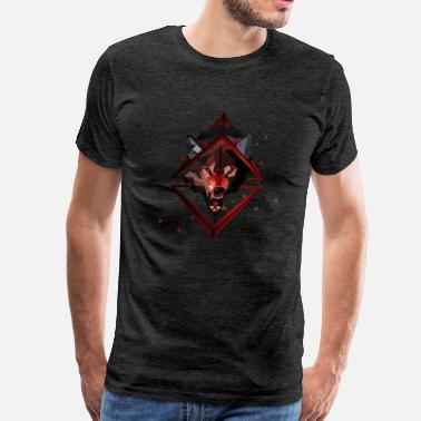 Polygon 3D polygonal Art Wolf - Men's Premium T-Shirt