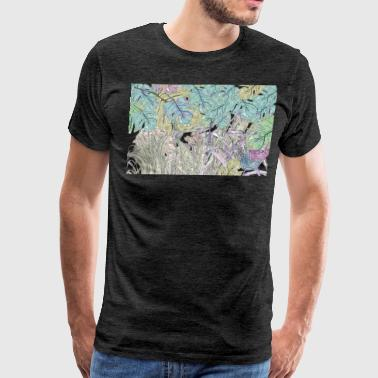 jungle pattern - Men's Premium T-Shirt